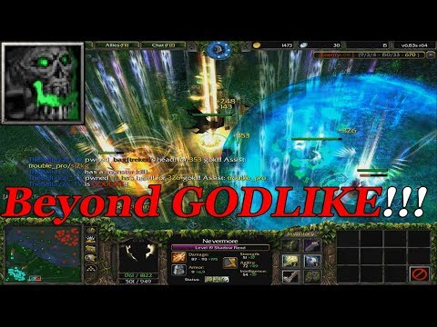 DOTA 1 - Shadow Fiend NEVERMORE BEYOND GODLIKE   (HARD GAME)