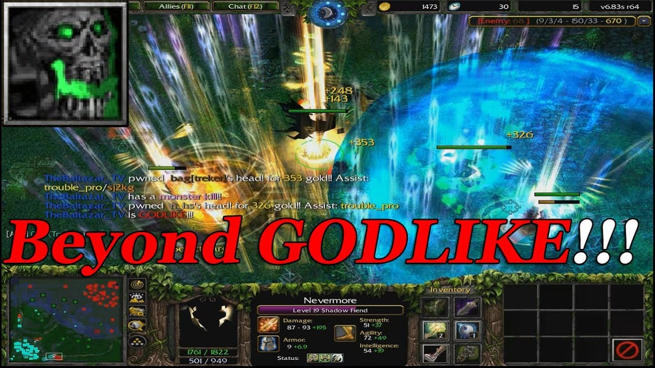 DOTA 1 – Shadow Fiend NEVERMORE BEYOND GODLIKE | (HARD GAME)