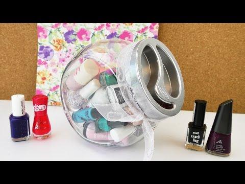 Deko & Aufbewahrung mit Nagellack Flaschen | Kosmetik im Glas | Zimmer Idee | Sind das Süßigkeiten?