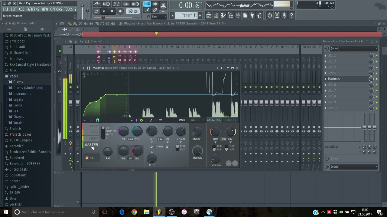 How to make a Hard Psy Trance Kick  +Download - YouTube