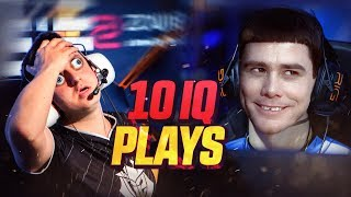 CS:GO -  WHEN PROS MAKE 10 IQ PLAYS! (STUPID AND DUMB PLAYS)