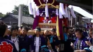 多和神社秋季大祭 寶組ちょうさ 2012.10.7.MTS