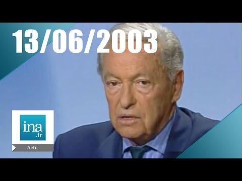 20h France 2 du 13 Juin 2003 - Mort de Guy Lux | Archive INA