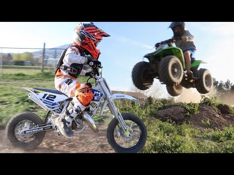 TURNING YOUR BACKYARD INTO A DIRT BIKE AND ATV TRACK | MX VS ATV IN REAL LIFE