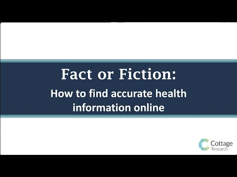 Fact or Fiction: How To Find Accurate Health Information Online