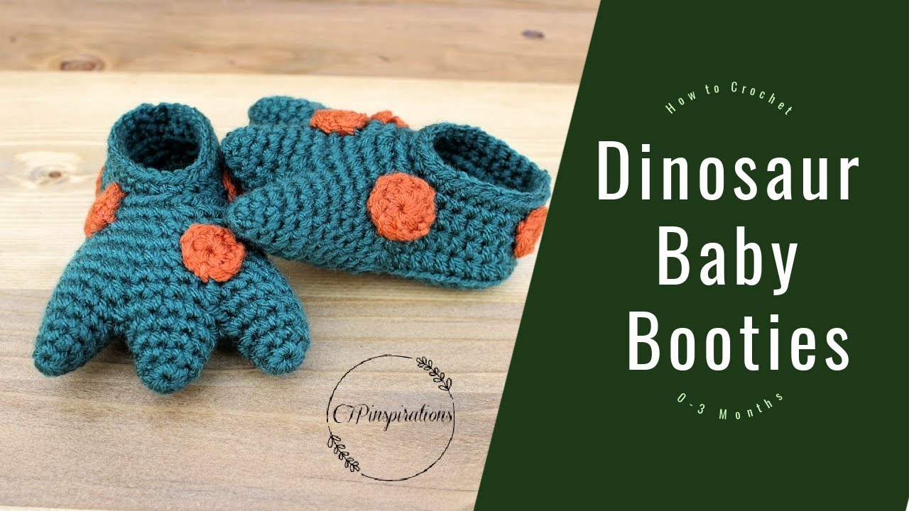 How to Crochet Dinosaur Baby Booties