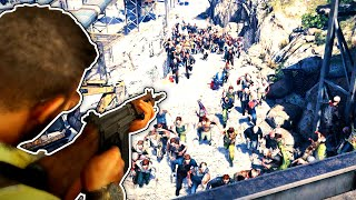 Defending The Fort From A Huge Zombie Invasion in World War Z GOTY Edition