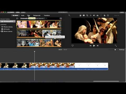 Acts8Xmas - Personalized with iMovie