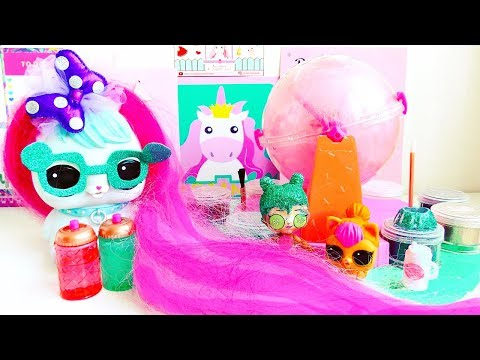 LOL DOLL WITH the LONGEST PINK Hair!!! NEW LOL DIY Glitter FACTORY ! Making my OWN LOL DOLLS !