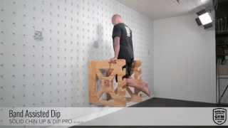 SOLID Chin Up & Dip Pro - Band Assisted Dip