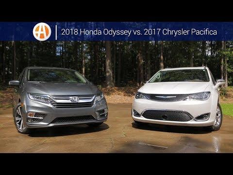 2018 Honda Odyssey vs. 2017 Chrysler Pacifica | Comparison | Autotrader