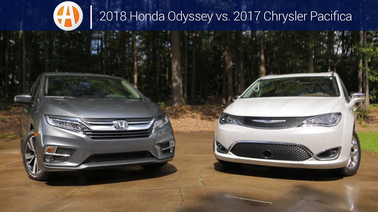 2018 Honda Odyssey Vs 2017 Chrysler Pacifica Comparison Autotrader