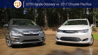 2018 Honda Odyssey vs. 2017 Chrysler Pacifica | Comparison | Autotrader