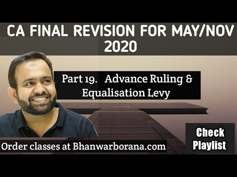 Part 19  Advance Ruling  &  Equalisation Levy   CA Final Revision