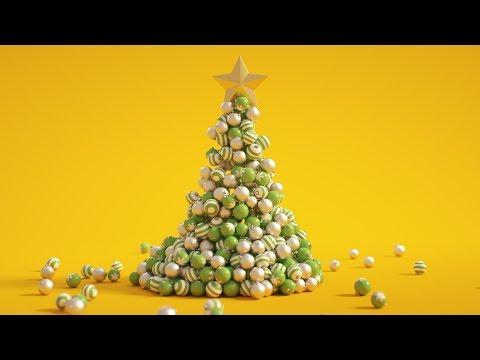 C4D Christmas Tree - Cinema 4D Tutorial (Free Project)