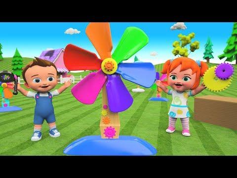 Kids Preschool Activities   Little Babies Fun Play Assembling Toy Fan 3D Toy Set Children Education