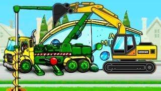 Мультики про машинки - видео игра для детей - Рабочие машины! Развивающий мультфильм 2020 года.