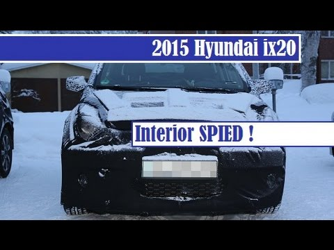 2015 Hyundai ix20 Facelift spied with interior detail, introduced in 2010, get facelift this year