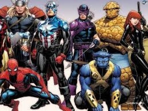 100 cartoon characters marvel was favorited all time -comics avengers part 2
