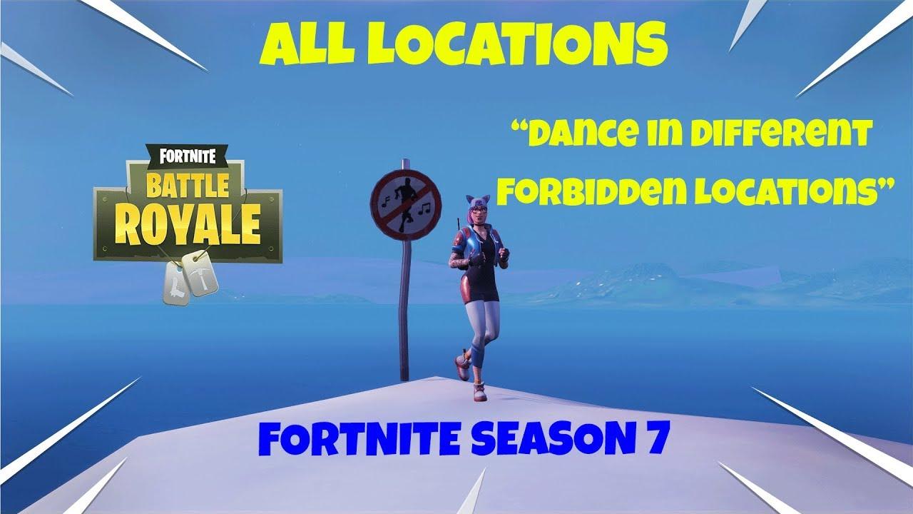 Fortnite Season 7 Week 1 Challenges Guide All Forbidden Dance