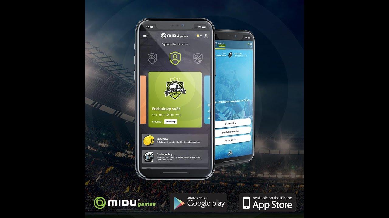 Fotbalový svět / MIDU Gamas / Herní aplikace zdarma a bez reklam / App store a Google play