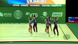 Ukraine (UKR) - 2018 Aerobic Worlds, Guimaraes (POR) - Group Qualifications