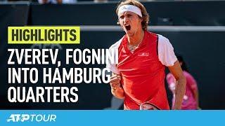 Zverev & Fognini Impress In Hamburg   HIGHLIGHTS   ATP