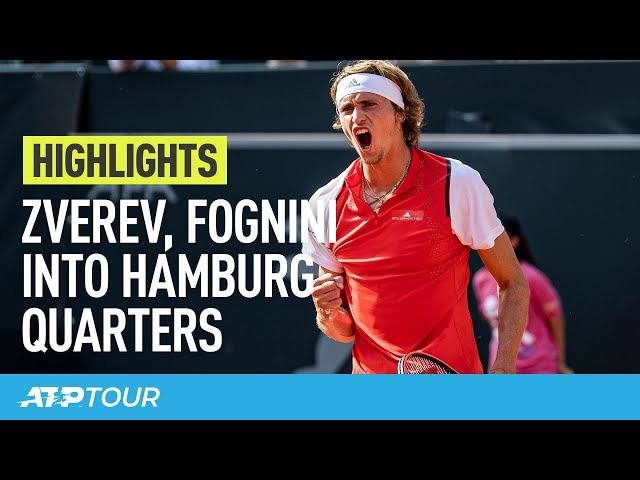 Zverev & Fognini Impress In Hamburg | HIGHLIGHTS | ATP