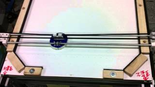 I3 reprap Evolution Air hockey robot x_y table motion test