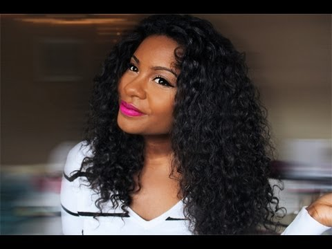 Hairstyle Routine : CURLY HAIR ROUTINE with U PART LEGATOGIRLGLAM - YouTube
