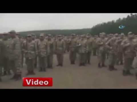 Şehit üsteğmenin birliğinden anlamlı video