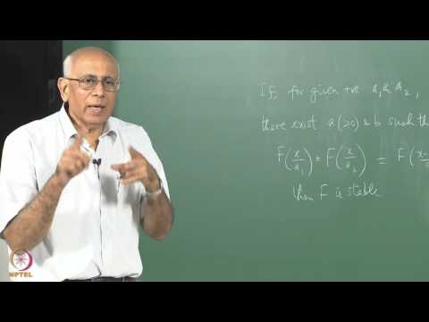 Mod-01 Lec-05 Stable distributions