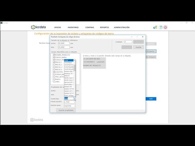 Como diseñar una etiqueta de código de barra - Kordata.mx