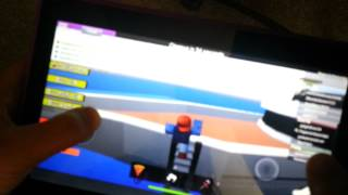 Roblox tablet gameplay