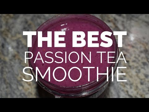 A Smoothie with... TAZO TEA? - Passion Tea Smoothie Recipe! || Young Mrs. Food Vlog
