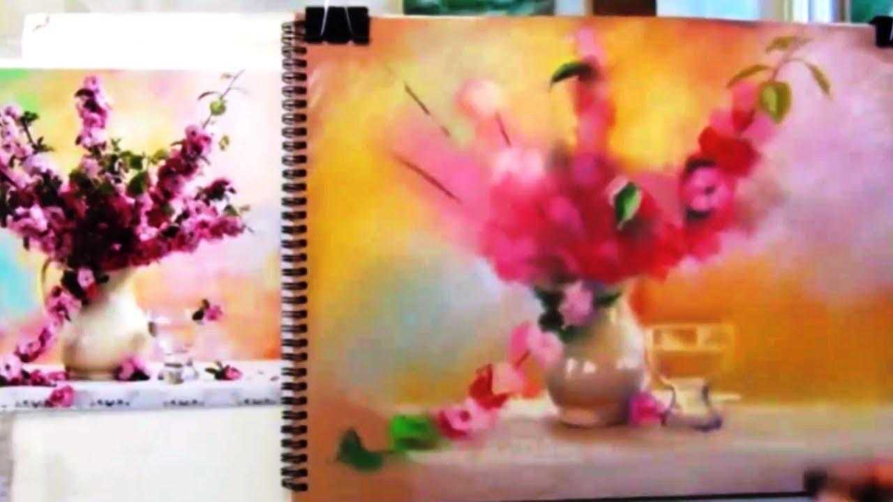 Как нарисовать ПАСТЕЛЬНЫЙ НАТЮРМОРТ С ЦВЕТАМИ! Учимся рисовать НАТЮРМОРТ! Как Научиться РИСОВАТЬ
