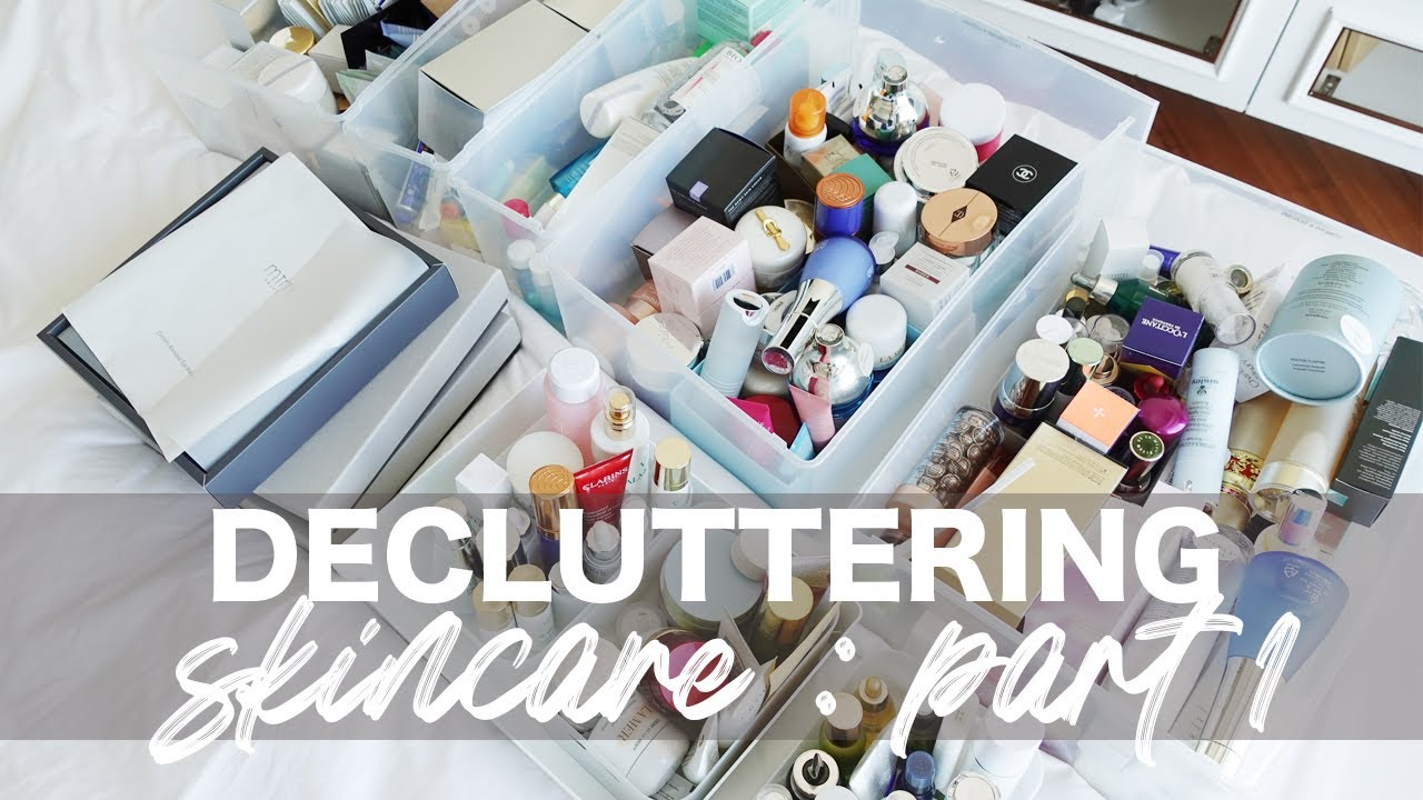 DECLUTTER SKINCARE WITH ME   PART 1   Bethni Y