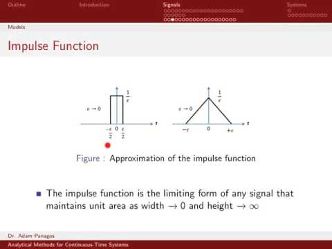The Continuous-Time Unit Impulse Function 1/4