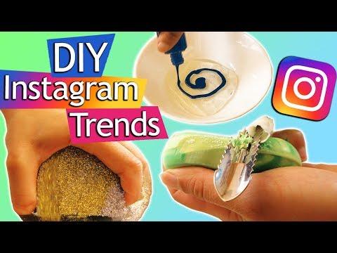 Verrückte DIY Instagram Trends testen