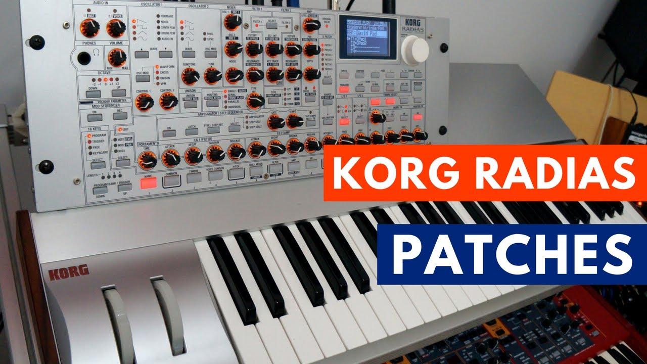 Free Korg Radias Sound Library   Synthtopia