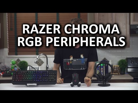 Razer Chroma RGB Line - Blackwidow Ultimate, DeathAdder, and Kraken