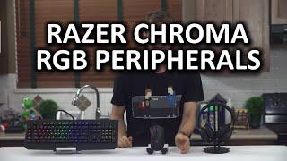 Razer Chroma RGB Line - Blackwidow Ultimate, DeathAdder, and Kraken