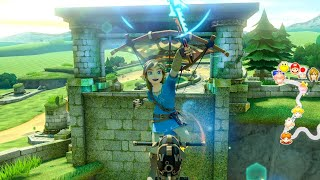 Playing as Breath of the Wild Link in Mario Kart 8 Deluxe
