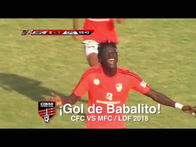 Gol de Woodensky Cherenfant. Cibao FC vs Moca FC - J1 LDF 2018