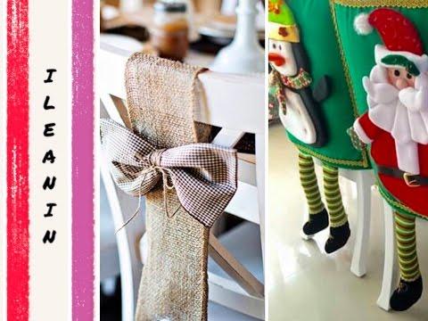 Ideas de como decorar las sillas para navidad diy for Como adornar la casa para navidad