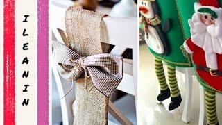 Ideas de Como Decorar las Sillas para Navidad /DIY Christmas Chair Decor
