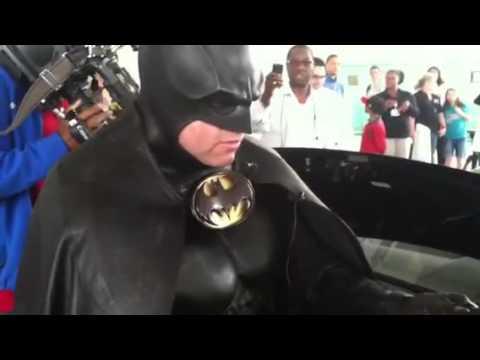 Batman Shows Gifts For Sinai Hospital Children