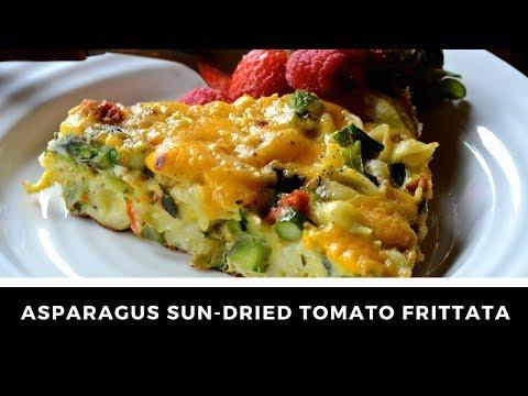 ASPARAGUS & SUN DRIED TOMATO FRITTATA!