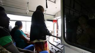 Bus from Nuwara Eliya to Kandy, Sri Lanka