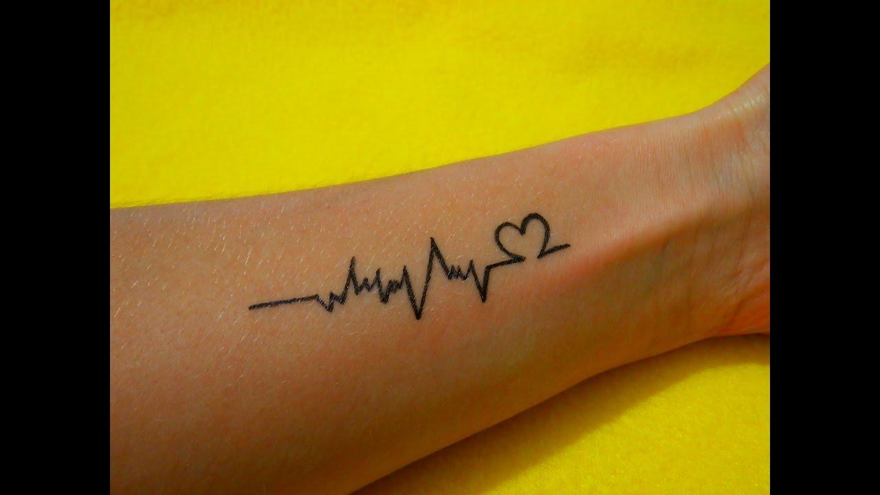 временное тату в домашних условиях линия пульса 51 A Temporary Tattoo At Home Line Pulse
